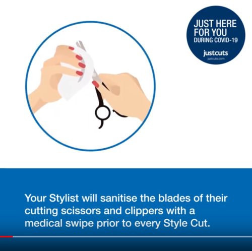 Just Cuts is Just Here For You, during COVID-19 - Video