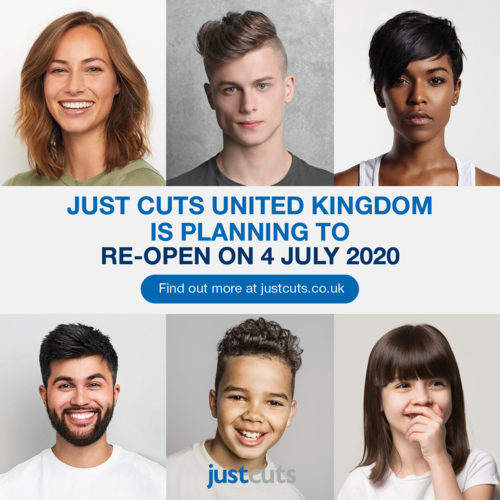 All Just Cuts UK salons planning to open on July 4